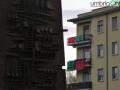 Ternana obelisco bandiere bandiera rossoverde pre Avellino454