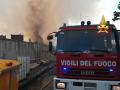 Incendio Biondi Recuperi 8 vvf