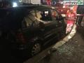 Vigili del fuoco esplosione danni via degli Arroni 4545 auto