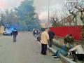 esplosione vigili del fuoco soccorsi via degli Arroni appartamento feriti