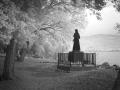 jean wilmotte, isola maggiore, lago trasimeno, foto, bianco e nero, infrarossi