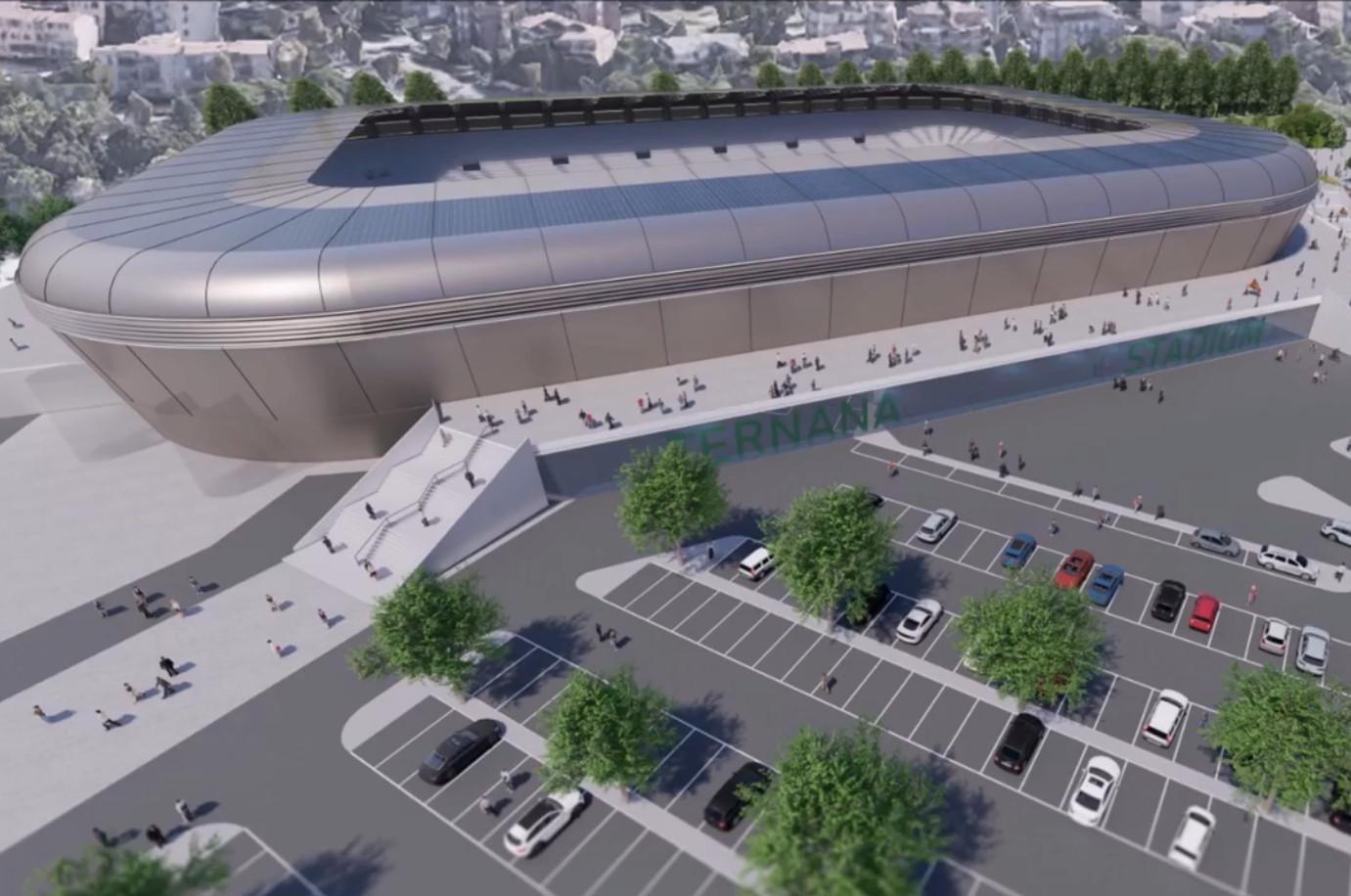 ternana progetto dati generali stadio fattibilità panorama parcheggio