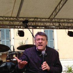 Maurizio Landini alla festa della Fiom di Terni