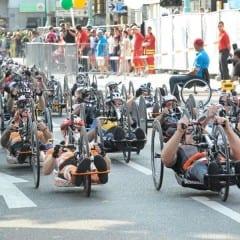 Handbike, due umbri alla Maratona di Roma