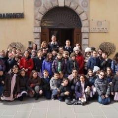 Norcia, alunni a 'scuola' dai carabinieri
