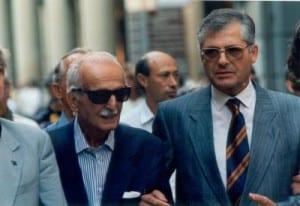 Torquato Secci, a sinistra, padre di Sergio