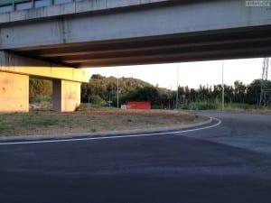 La rotonda di collegamento alla Terni-Rieti