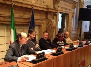 Gianluigi Giusti, primo da sinistra