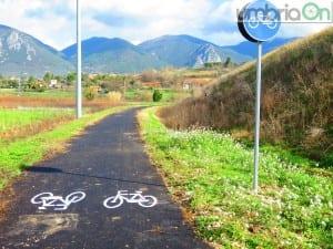 L'ingresso della pista ciclabile da strada di Casanova