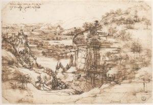 Il 'Paesaggio con fiume' di Leonardo da Vinci