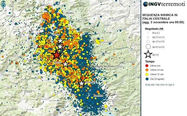 Terremoto: in 12 ore 200 scosse