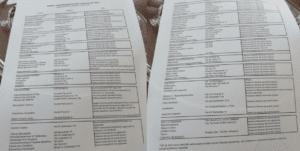 L'elenco dei sopralluoghi