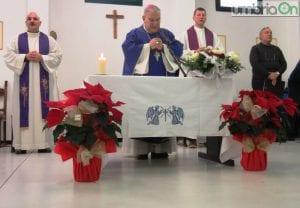 Il vescovo Giuseppe Piemontese durante la celebrazione della messa