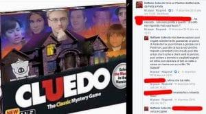 Sollecito su Facebook plastico di porta a porta cluedo