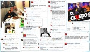 Un collage dei commenti di Sollecito