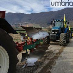 Norcia, la protesta degli agricoltori