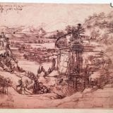Leonardo, il disegno esposto in Umbria