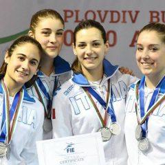 Mondiali di scherma: podio Lucarini-Crovari