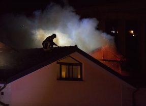 Terni, casa in fiamme al vocabolo Trevi