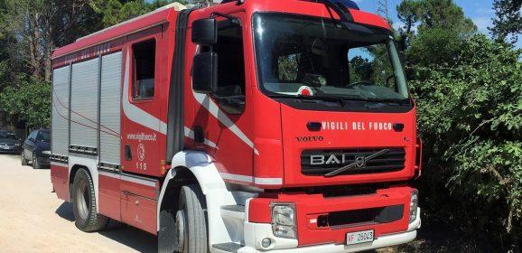 Incendio a Cesi, scatta l'intervento