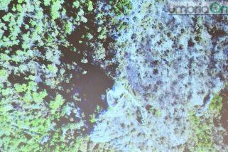 Terni, drone in volo sulla montagna arsa