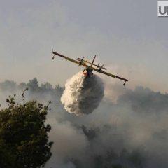 Terni, Rocca in fiamme vista da Mirimao