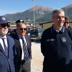 Norcia, Angelo Borrelli in visita ai cantieri Sae