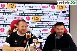 Roberto Breda Roberto Goretti presentazione Perugia conferenza stampa