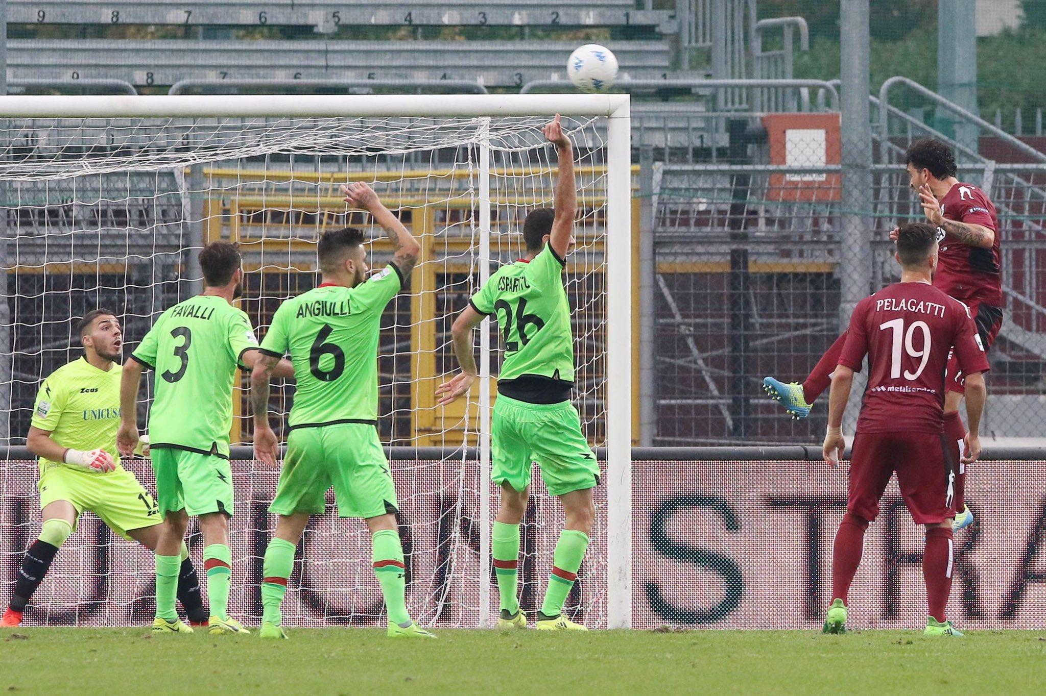 Il gol di Arrighini (foto As Cittadella 1973 twitter) 8c9bb5a34d1a