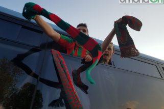I tifosi della Ternana festeggiano il derby