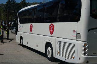 Derby, l'arrivo al Curi di Perugia e Ternana