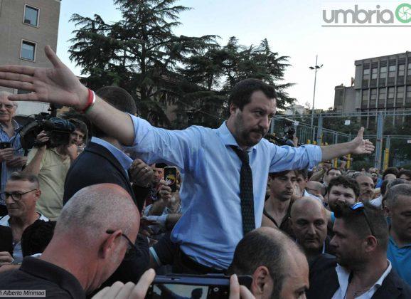 Salvini a Terni: «Non siamo una colonia»