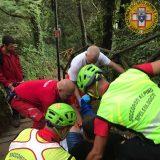 Terni, escursionista soccorso alla cascata