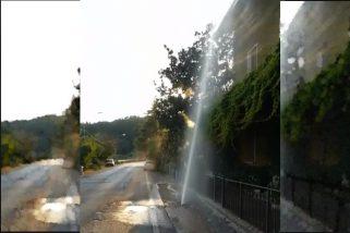 A Perugia spunta un geyser dalla strada