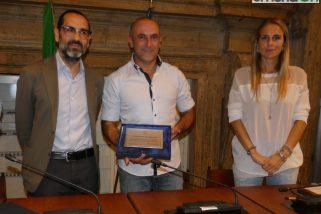 Samuele Sacripanti premiato a Terni