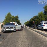 Carambola a Terni, traffico in tilt