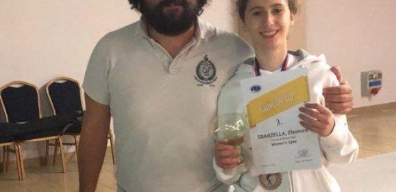 Circolo Scherma Terni, podio Sbarzella