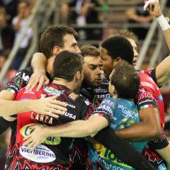 La Sir Perugia rimonta e batte Trento 3-1