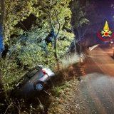 Norcia, fuori strada con l'auto: un ferito