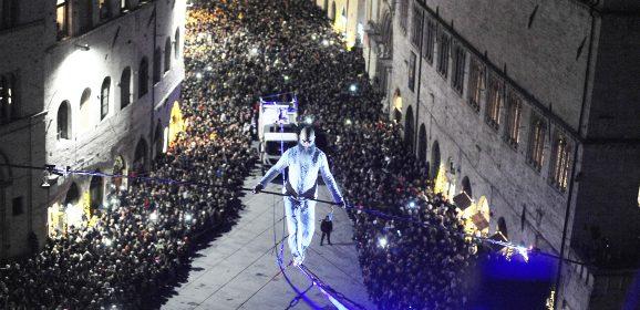 Natale a Perugia: funambolo e favole