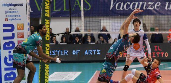 Sir vince, Trento perde: Perugia torna in vetta