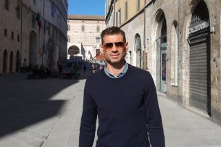 C'è Bizzarri in centro: «Che bella Perugia»