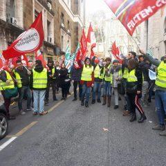 Treofan, lavoratori protestano al Mise