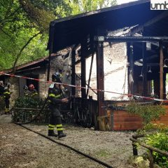 Piediluco, incendio in ristorante – Foto