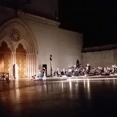 Ad Assisi, l'orchestra prova di notte – video