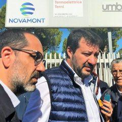 Terni, Salvini alla Treofan a ruota libera