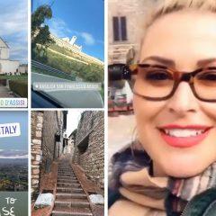 «Oh my God!»,  Anastacia stregata posta Assisi sul web
