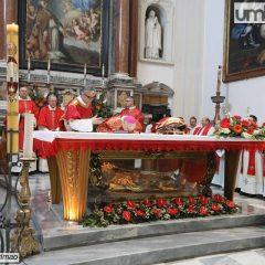 Terni, San Valentino: cerimonia in basilica
