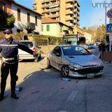 Terni, scontro a borgo Bovio: traffico in tilt