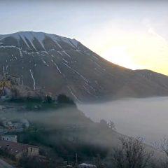 Lo strano febbraio di Castelluccio di Norcia